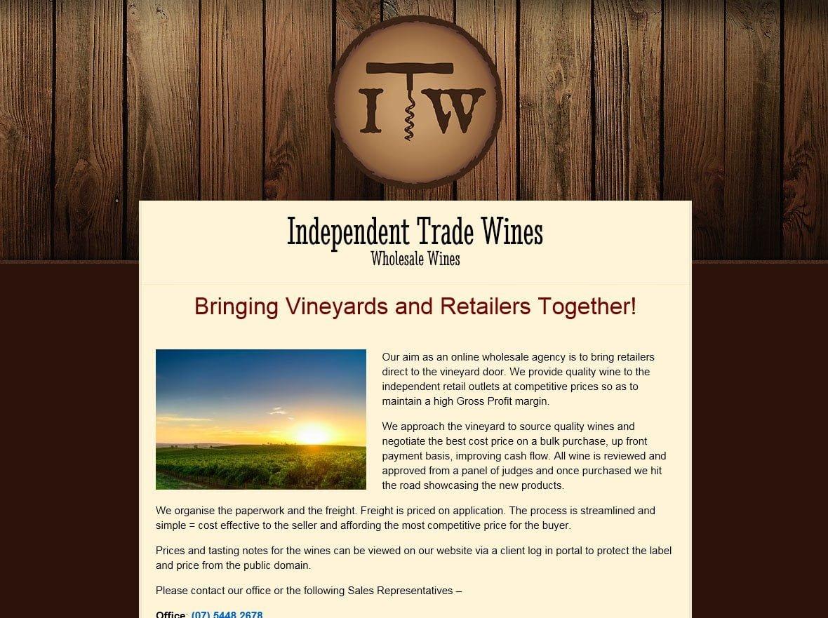 independent trade wines